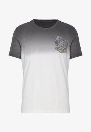 T-shirt z nadrukiem - white/grey