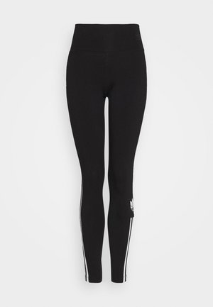 COLOR SPORTS INSPIRED SLIM TIGHTS - Legíny - black/white