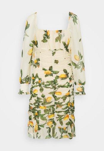 OBJLEMON SMOCK DRESS - Day dress - sandshell