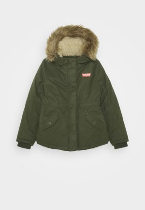 HOOD UNISEX - Winterjas - olive night