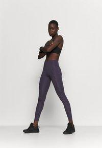 Nike Performance - ONE LUX - Legging - dark raisin/black/clear - 1