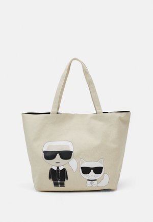 IKONIK KARL CHOUPETTE TOTE - Shopping Bag - natural