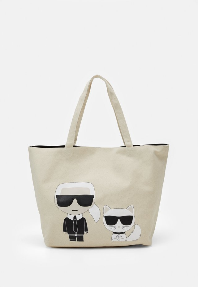 IKONIK KARL CHOUPETTE TOTE - Shoppingväska - natural