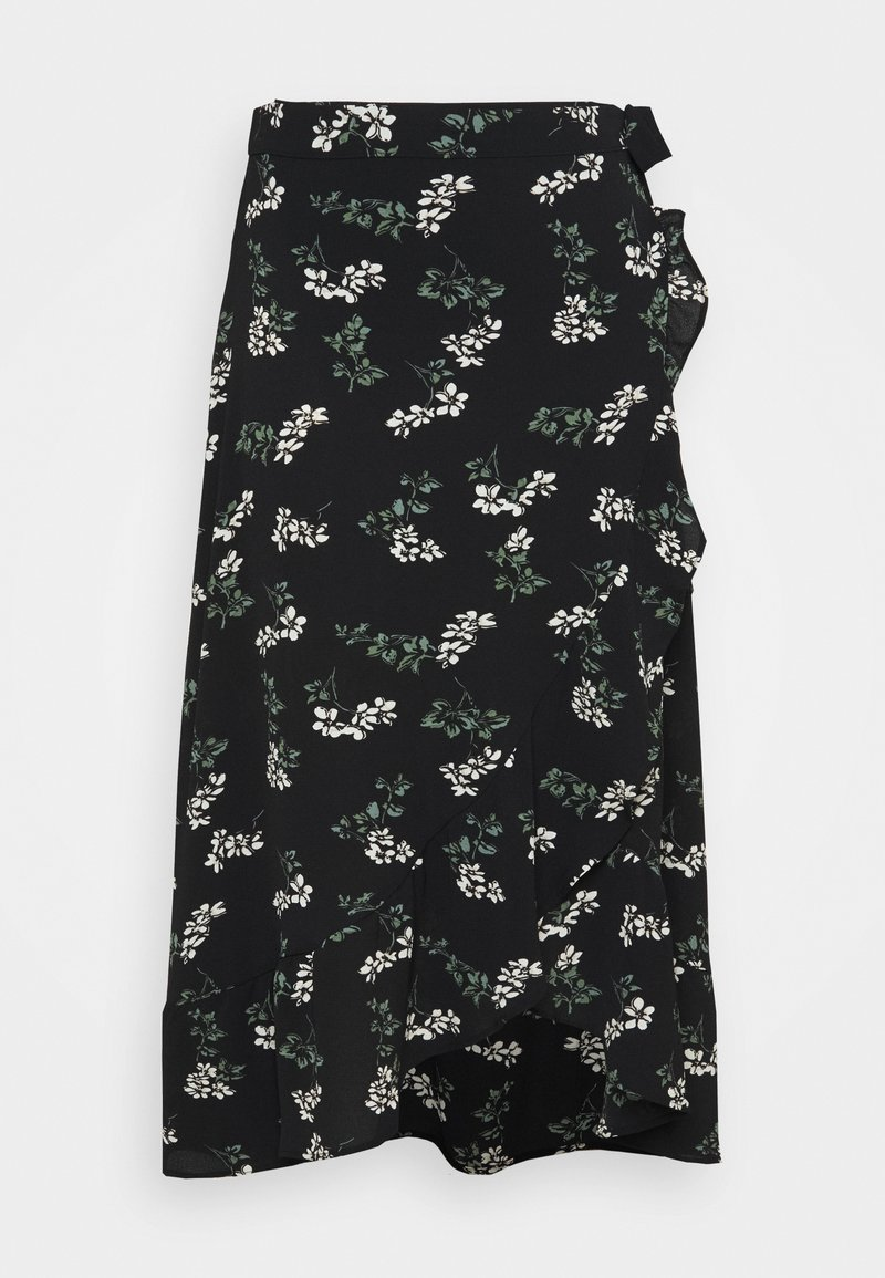 Vero Moda Curve - VMSAGA WRAP ANKLE SKIRT - A-line skirt - black/nellie