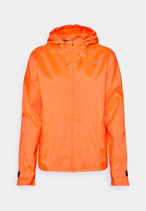 ESSENTIAL JACKET - Kurtka do biegania - bright mango/reflective silver
