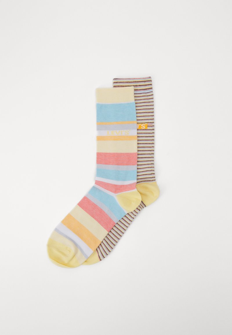 Levi's® - REGULAR CUT MICRO STRIPE 2 PACK - Socks - orange/blue/white