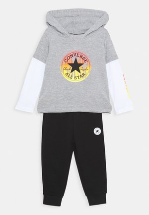 FLAMES HOODIE SET - Pantalones deportivos - dark grey heather