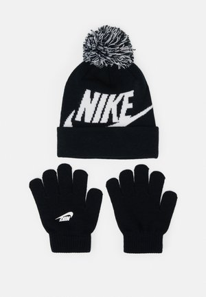 POM BEANIE GLOVE SET - Sormikkaat - black