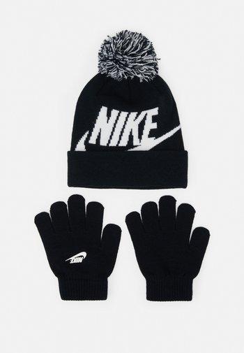 POM BEANIE GLOVE SET - Gloves - black
