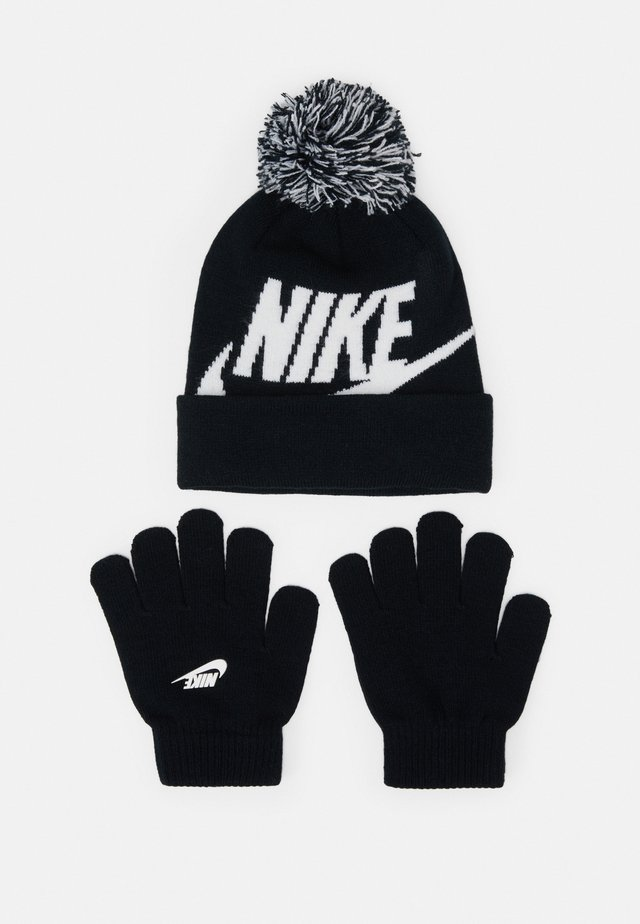 POM BEANIE GLOVE SET - Guanti - black