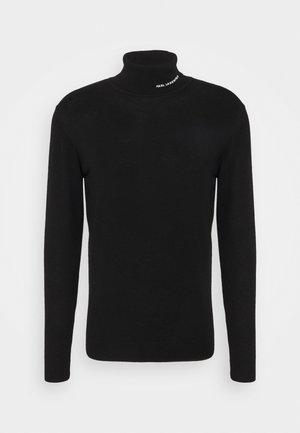 ROLLNECK - Stickad tröja - black