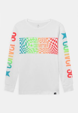 LONG SLEEVE LOGO GRAPHIC UNISEX - Long sleeved top - white