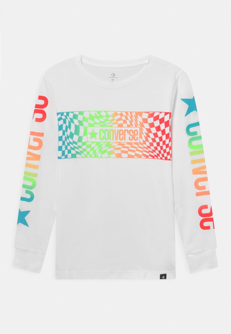 Converse - LONG SLEEVE LOGO GRAPHIC UNISEX - Long sleeved top - white