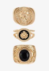Burton Menswear London - LION HEAD RING SET - Anello - gold-coloured - 3