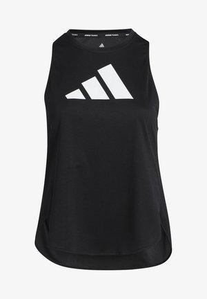 3 BAR LOGO TANK TOP (PLUS SIZE) - Treningsskjorter - black/white