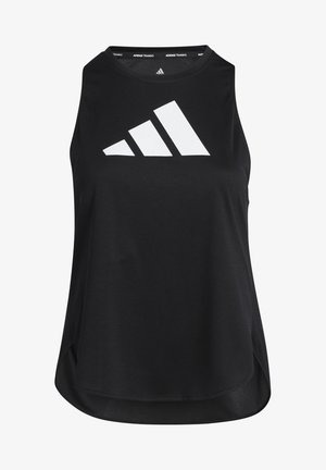 3 BAR LOGO TANK TOP (PLUS SIZE) - T-shirt sportiva - black/white