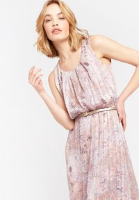 LolaLiza - WITH FLOWERS AND BELT - Maxi dress - nude - 3