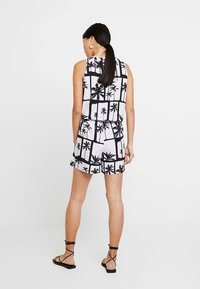 Q/S designed by - OVERALL KURZ - Jumpsuit - black/white - 2
