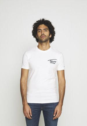 STRETCH CHEST LOGO TEE  - Print T-shirt - white