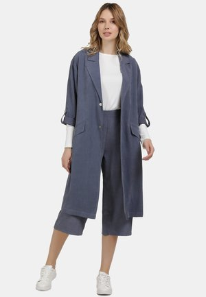 MANTEL - Classic coat - denim blau
