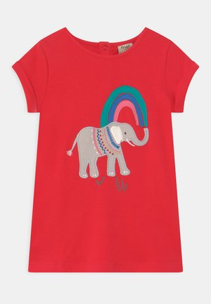 SOPHIE APPLIQUE ELEPHANT - Triko s potiskem - true red/elephant