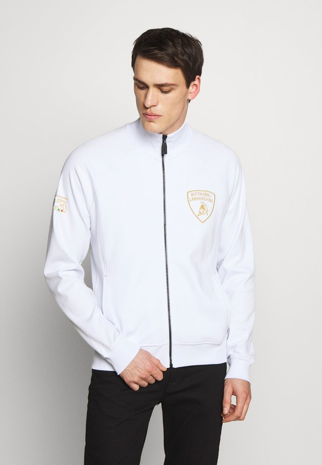 SHIELD LOGO TRACK JACKET - Zip-up hoodie - white
