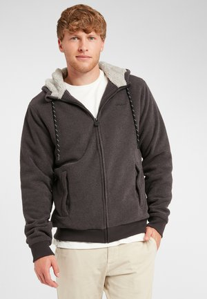 Zip-up hoodie - dark grey melee