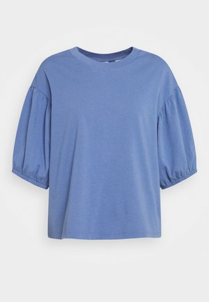 PEONY PUFF SLEEVE - T-shirts - colony blue