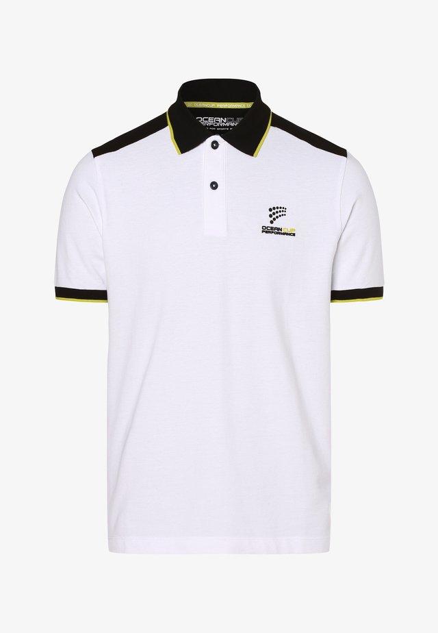 Polo shirt - weiß schwarz