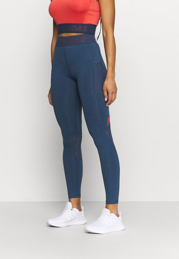 Tights - navy/red