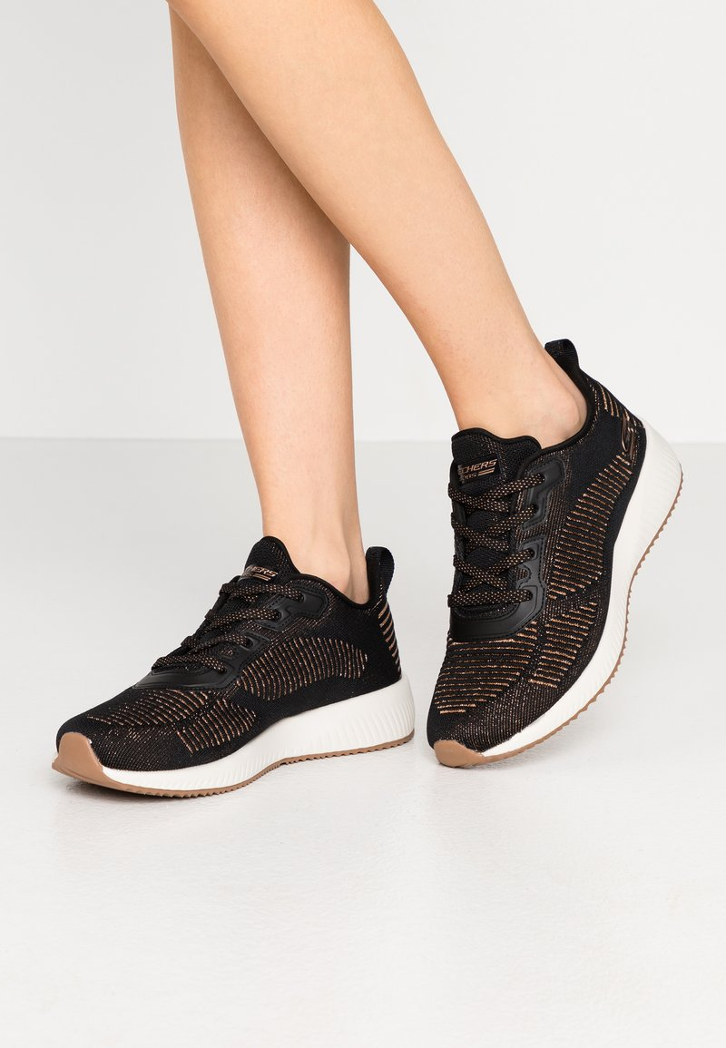 Skechers Sport - BOBS SQUAD - Trainers - black/rose gold