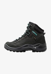 Lowa - RENEGADE GTX MID - Hiking shoes - asphalt/türkis - 0
