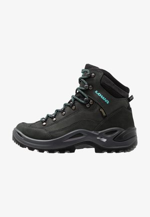 RENEGADE GTX MID - Hiking shoes - asphalt/türkis