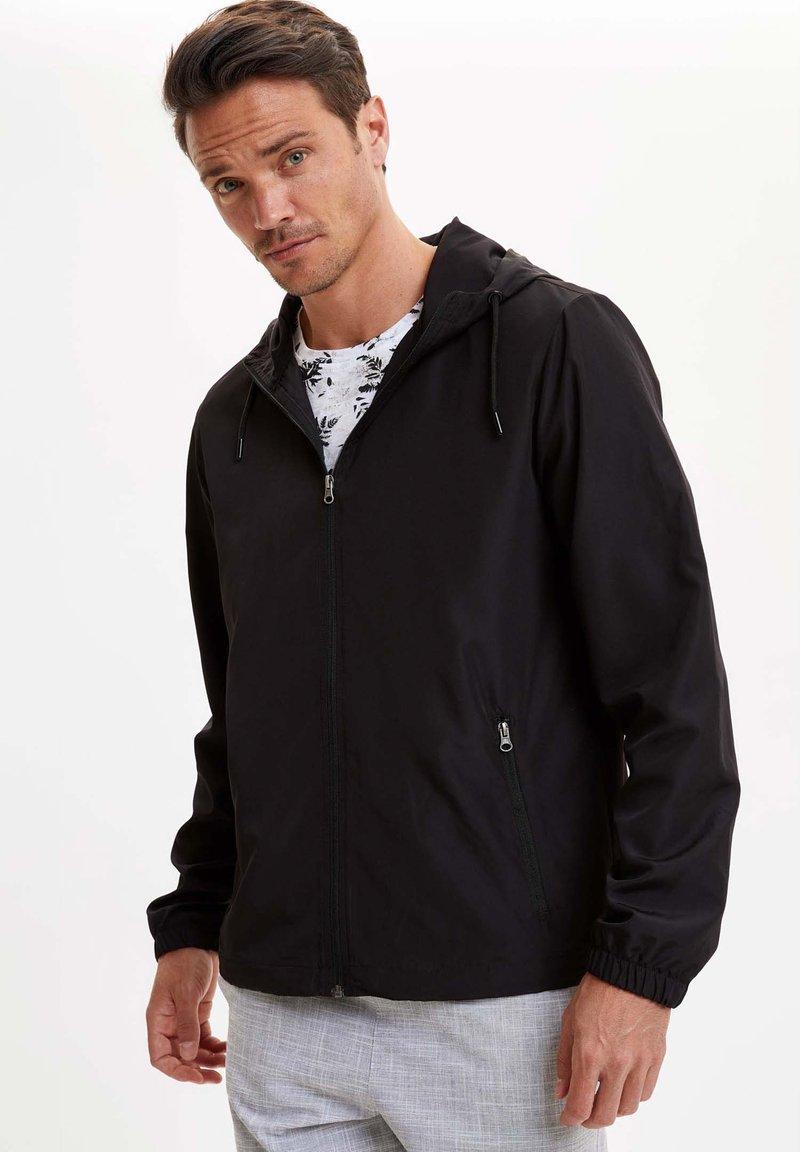 DeFacto - Bluza rozpinana - black