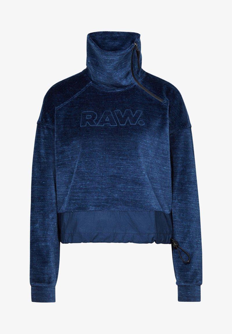 G-Star - RAW DOT COLLAR ZIP - Fleece jacket - kobalt htr
