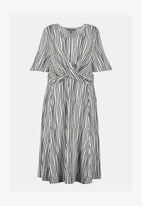 Ulla Popken - Jersey dress - weiß/marine - 2
