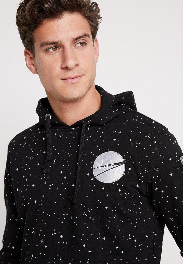 Alpha Industries NASA STARRY HOODY - Bluza z kapturem - schwarz/czarny Odzież Męska BBZR