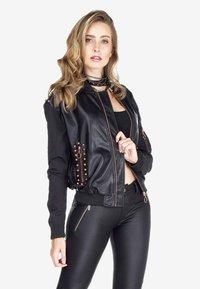 Cipo & Baxx - Faux leather jacket - black - 0