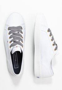Tommy Hilfiger - ESSENTIAL NAUTICAL SNEAKER - Sneakers laag - white - 3