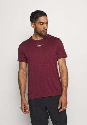WOR MELANGE TEE - Print T-shirt - maroon