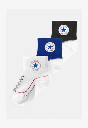 CHUCK INFANT TODDLER QUARTER 3 PACK UNISEX - Ponožky - converse blue