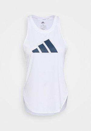 LOGO TANK - Camiseta de deporte - white/crew red/crew navy