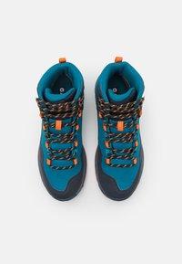 Hi-Tec - VERVE MID WP - Hiking shoes - navy/sapphire/orange - 3