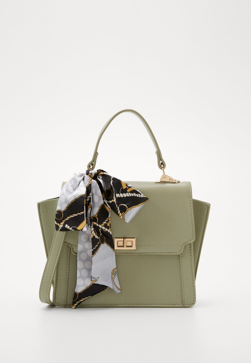 Pieces - PCOLIVE CROSS BODY  - Sac à main - olive branch/gold-coloured