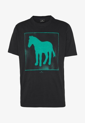 SPRAY ZEBRA - T-Shirt print - black