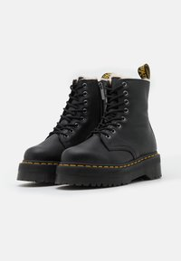 Dr. Martens - JADON FAUX FUR LINED - Platform ankle boots - black pisa - 2