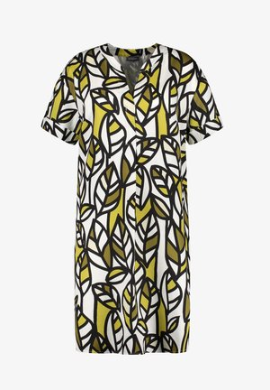 Korte jurk - citronella gemustert