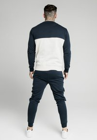 SIKSILK - CUT AND SEW CREW - Sweatshirt - navy/snow marl - 2