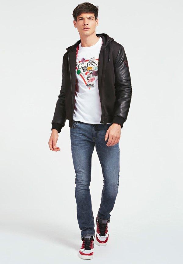 Guess T-shirt z nadrukiem - weiß/biały Odzież Męska QESP