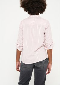 LolaLiza - WITH LUREX STRIPES - Button-down blouse - light pink - 2